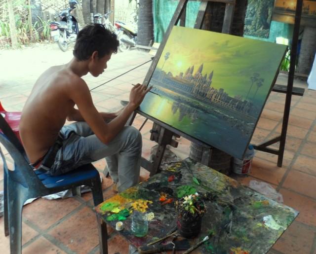 Картины Камбоджа