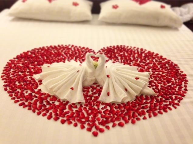 Украшение на брачную ночь